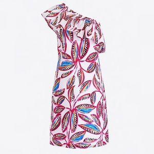 NWT J Crew Island One Shoulder Linen Dress Size XS